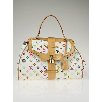 Louis Vuitton White Monogram Multicolore Eye Love You Bag