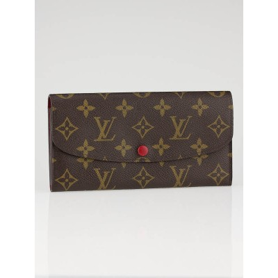 Louis Vuitton Monogram Canvas Rouge Emilie Wallet
