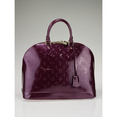 Louis Vuitton Violette Monogram Vernis Alma MM Bag