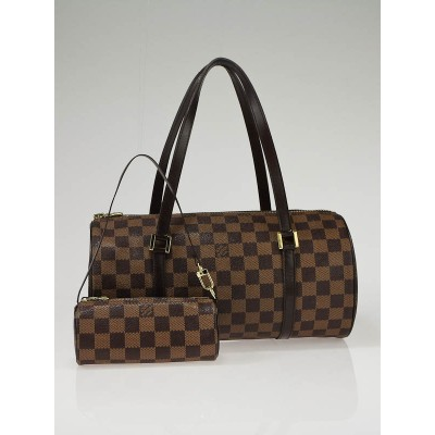Louis Vuitton Damier Canvas Papillon 30 Bag and Accessory Pouch