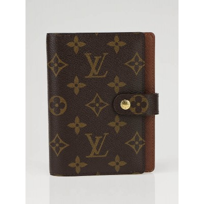 Louis Vuitton Monogram Canvas Small Agenda Notebook
