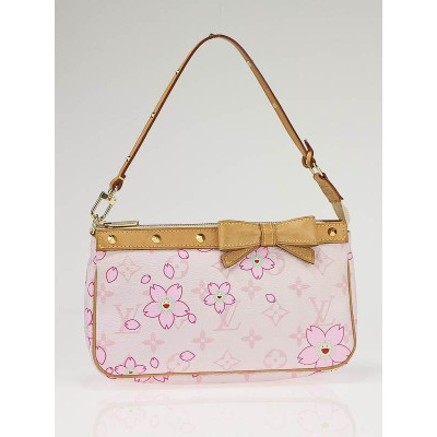 Louis Vuitton Limited Edition Pink Cherry Blossom Accessories Pochette Bag