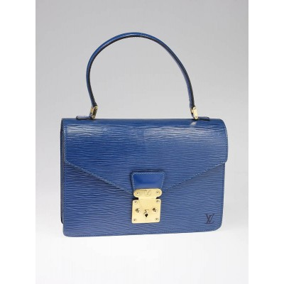 Louis Vuitton Toledo Blue Epi Leather Concorde Bag