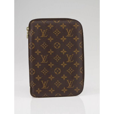 Louis Vuitton Monogram Canvas Large Zip Organizer