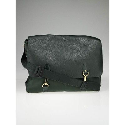 Louis Vuitton Dark Green Taiga Leather Dersou Bag