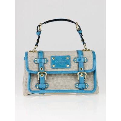 Louis Vuitton Limited Edition Trianon Canvas Turquoise Ostrich Sac Express PM Bag