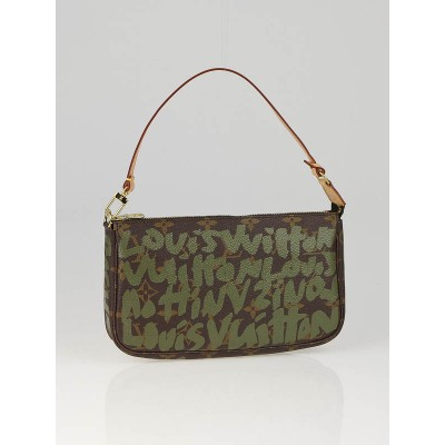 Louis Vuitton Khaki Graffiti Stephen Sprouse Accessories Pochette Bag