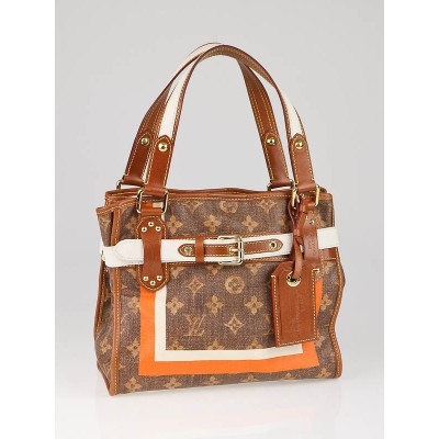 Louis Vuitton Limited Edition Monogram Tiss' Rayures PM Tote Bag
