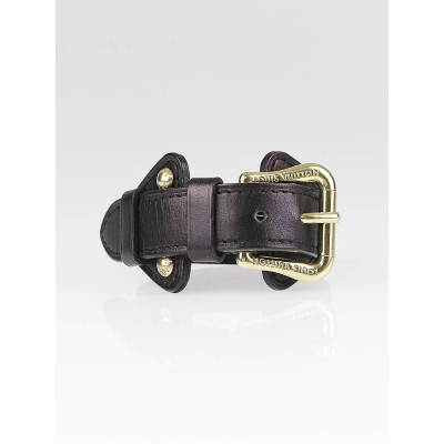 Louis Vuitton Black Leather Buckle Bracelet