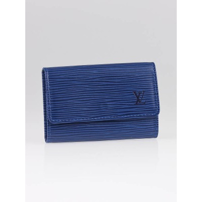 Louis Vuitton Toledo Blue Epi Leather Multicles 6 Key Holder