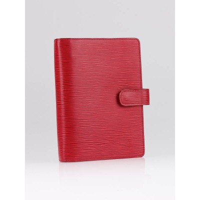 Louis Vuitton Red Epi Leather Medium Agenda Notebook