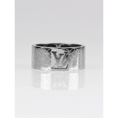Louis Vuitton Stainless Steel Champs Elysees Ring Size 7.5
