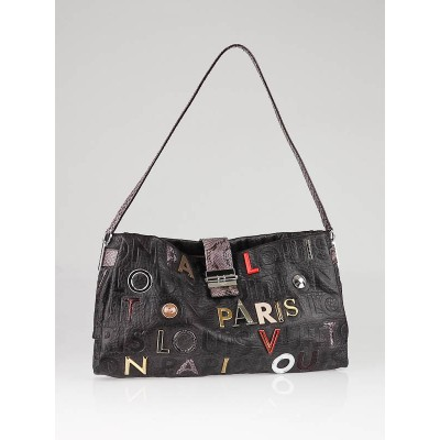 Louis Vuitton Limited Edition Grey Monogram Collage Lutece Bag