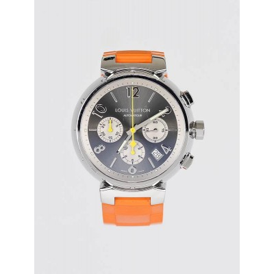 Louis Vuitton 41.5mm Gris Tambour Automatic Chronograph MM Watch