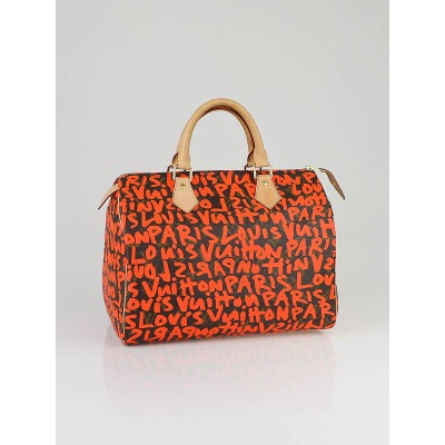 Louis Vuitton Limited Edition Orange Stephen Sprouse Speedy 30 bag