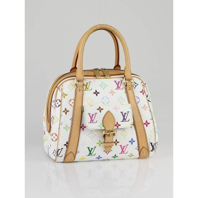 Louis Vuitton White Monogram Multicolor Canvas Priscilla Bag