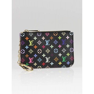Louis Vuitton Black Multicolore Monogram Key and Change Holder