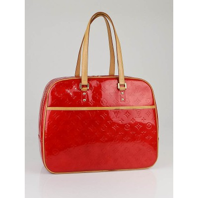 Louis Vuitton Red Monogram Vernis Sutton Bag