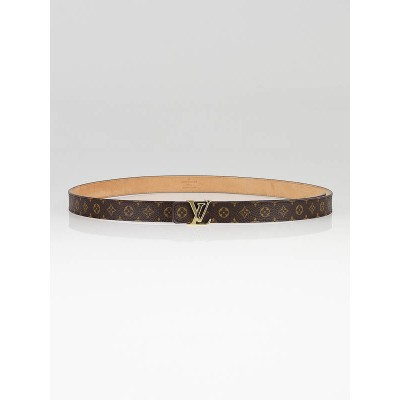 Louis Vuitton Monogram Canvas LV Intitiales Belt Size 90/36