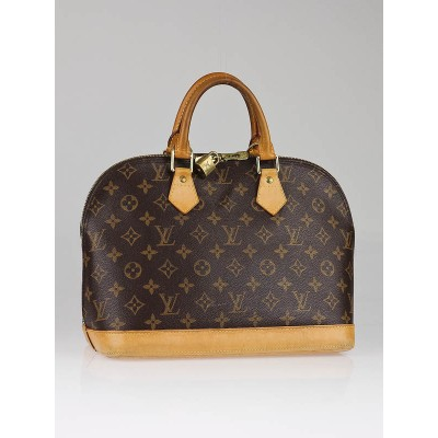 Louis Vuitton Monogram Canvas Alma Bag w/ Shoulder Strap
