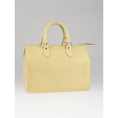 Louis Vuitton Vanilla Epi Leather Speedy 25 Bag