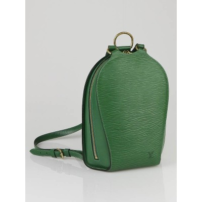 Louis Vuitton Green Epi Leather Mabillon Backpack Bag
