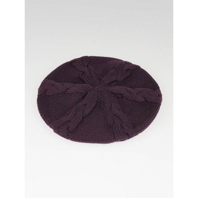 Louis Vuitton Purple Wool Knit Columbia Beret