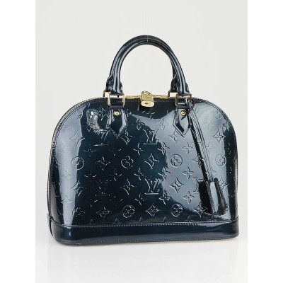 Louis Vuitton Bleu Nuit Monogram Vernis Alma Bag
