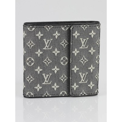 Louis Vuitton Black Monogram Mini Lin Compact Wallet