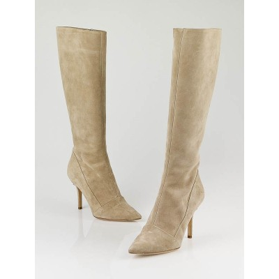 Louis Vuitton Beige Suede Diana Knee-High Boots Size 6.5/37