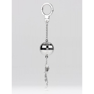 Louis Vuitton Silvertone Disco Ball Key Holder