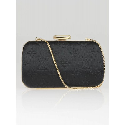 Louis Vuitton Limited Edition Noir Monogram Minaudiere Motard Clutch Bag