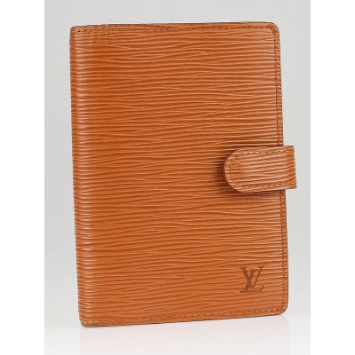 Louis Vuitton Fawn Epi Leather Small Agenda Notebook