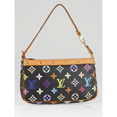 Louis Vuitton Black Multicolore Accessories Pochette Bag
