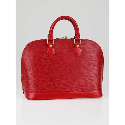 Louis Vuitton Red Epi Leather Alma Bag