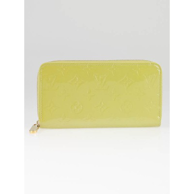Louis Vuitton Vert Impressions Monogram Vernis Zippy Wallet
