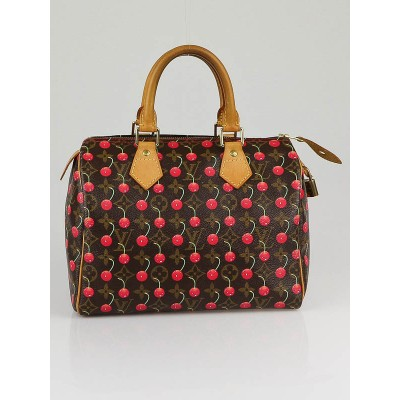 Louis Vuitton Limited Edition Cerises Speedy 25 Bag