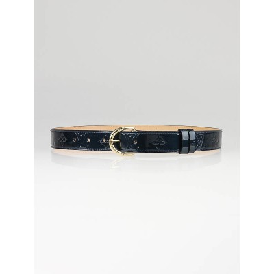 Louis Vuitton Blue Nuit Monogram Vernis Belt Size 80/32