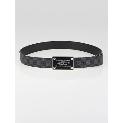 Louis Vuitton Damier Graphite Canvas Inventuer Reversible Belt Size 100/40