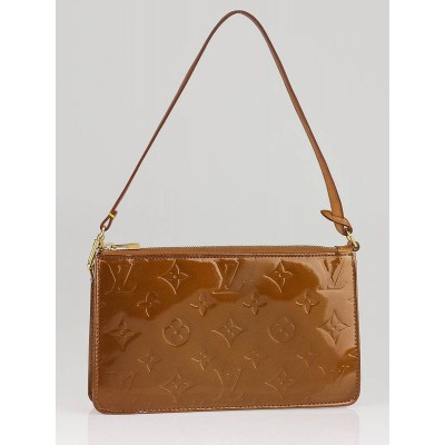 Louis Vuitton Bronze Monogram Vernis Lexington Accessory Pochette Bag