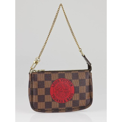 Louis Vuitton Damier Canvas Trunks and Bags Mini Accessories Pochette Bag