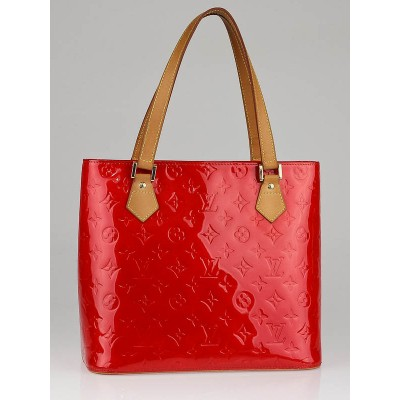 Louis Vuitton Red Monogram Vernis Houston Tote Bag