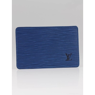 Louis Vuitton Toledo Blue Epi Business Card Holder