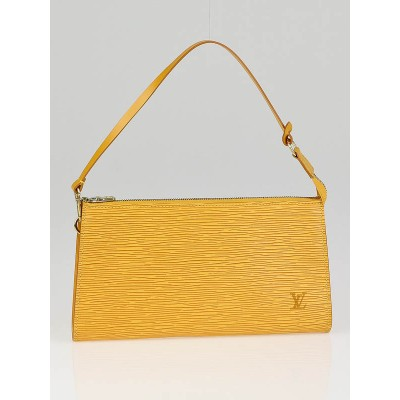 Louis Vuitton Yellow Epi Accessories Pochette Bag