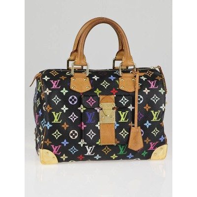 Louis Vuitton Black Multicolore Monogram Canvas Speedy 30 Bag
