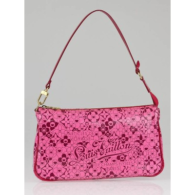 Louis Vuitton Limited Edition Pink Leather Cosmic Blossom Accessories Pochette Bag