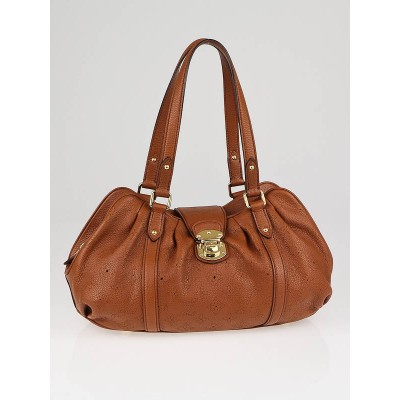 Louis Vuitton Cognac Mahina Leather Lunar PM Bag