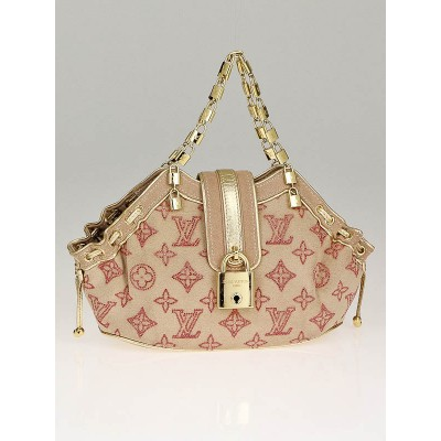 Louis Vuitton Limited Edition Rose Monogram Suede Swarovski Strass Theda PM Bag