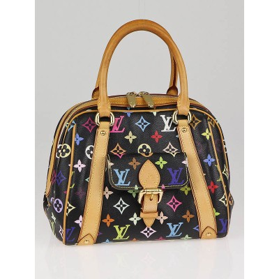 Louis Vuitton Black Monogram Multicolor Canvas Priscilla Bag