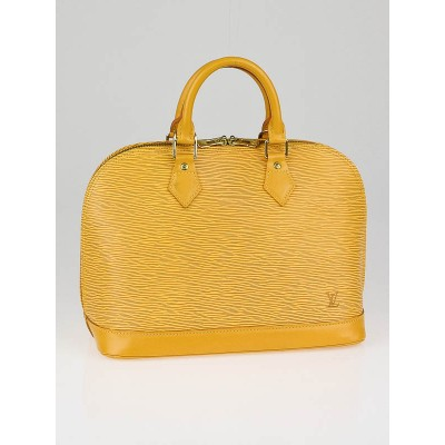 Louis Vuitton Tassil Yellow Epi Leather Alma Bag